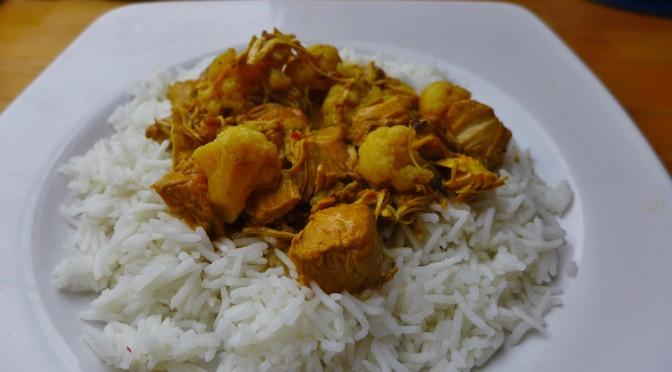 Rezept: Nidderauer indisches Hühnchen Blumenkohl Curry