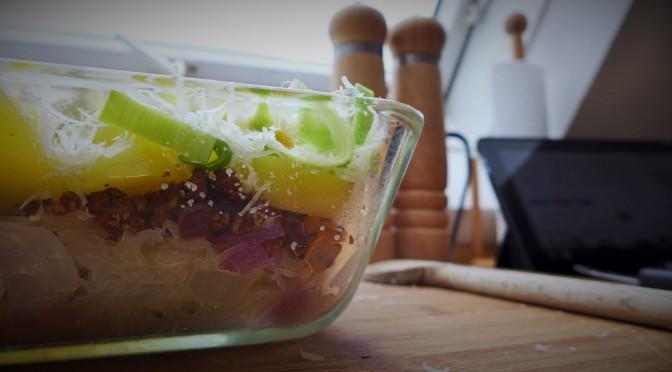 Rezept: Tante Inges, Wetterauer Sauerkrautauflauf